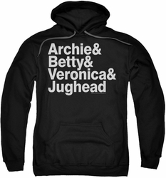 Archie Comics pull-over hoodie Ampersand List adult black
