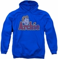 Archie Comics pull-over hoodie Distressed Archie Logo adult royal blue