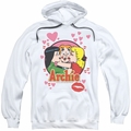 Archie Comics pull-over hoodie Kisses For Archie adult white