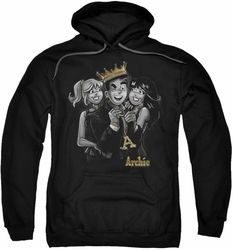 Archie Comics pull-over hoodie Ladies Man adult black