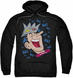 Archie Comics pull-over hoodie Laughing Jughead adult black