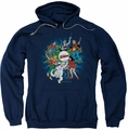Archie Comics pull-over hoodie Psychadelic Archies adult navy