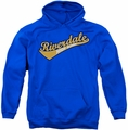 Archie Comics pull-over hoodie Riverdale High School adult royal blue