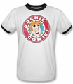 Archie Comics ringer t-shirt Archie Comics adult white black