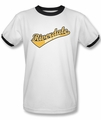 Archie Comics ringer t-shirt Riverdale High School adult white black
