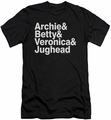 Archie Comics slim-fit t-shirt Ampersand List mens black