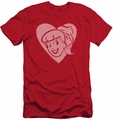 Archie Comics slim-fit t-shirt Betty Hearts mens red