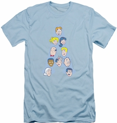 Archie Comics slim-fit t-shirt Character Heads mens light blue