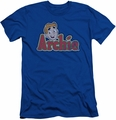 Archie Comics slim-fit t-shirt Distressed Archie Logo mens royal