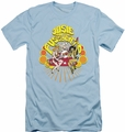 Archie Comics slim-fit t-shirt Groovy Rock & Roll mens light blue