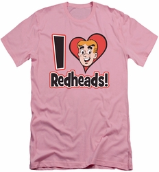 Archie Comics slim-fit t-shirt I Love Redheads mens pink