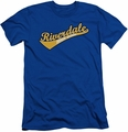 Archie Comics slim-fit t-shirt Riverdale High School mens royal