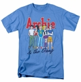 Archie Comics t-shirt And The Gang mens carolina blue