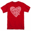 Archie Comics t-shirt Betty Hearts mens red