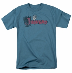 Archie Comics t-shirt Distressed Jughead Logo mens slate