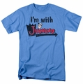 Archie Comics t-shirt I'M With Jughead mens carolina blue