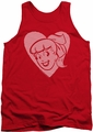 Archie Comics tank top Betty Hearts adult red