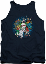 Archie Comics tank top Psychadelic Archies adult navy