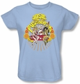 Archie Comics womens t-shirt Groovy Rock & Roll light blue