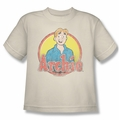 Archie Comics youth teen t-shirt Achie Distressed cream