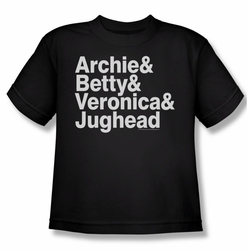 Archie Comics youth teen t-shirt Ampersand List black