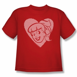 Archie Comics youth teen t-shirt Betty Hearts red