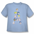 Archie Comics youth teen t-shirt Character Heads light blue