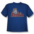 Archie Comics youth teen t-shirt Distressed Archie Logo royal