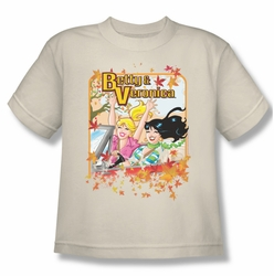 Archie Comics youth teen t-shirt Fall Colors cream