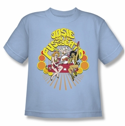Archie Comics youth teen t-shirt Groovy Rock & Roll light blue