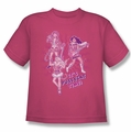 Archie Comics youth teen t-shirt Its Pussycat Time hot pink
