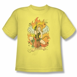 Archie Comics youth teen t-shirt Josie Tattoo banana