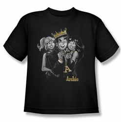 Archie Comics youth teen t-shirt Ladies Man black