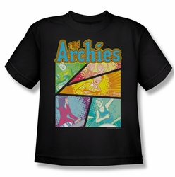 Archie Comics youth teen t-shirt The Archies Colored black