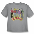 Archie Comics youth teen t-shirt The Gang silver