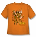 Archie Comics youth teen t-shirt Tiger Stripes orange