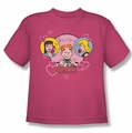 Archie Comics youth teen t-shirt Two Is Better hot pink
