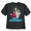 Archie Comics youth teen t-shirt Why Choose charcoal