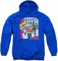 Archie Comics youth teen hoodie Crazy Sweater royal blue