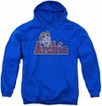 Archie Comics youth teen hoodie Distressed Archie Logo royal blue