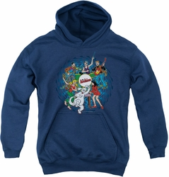 Archie Comics youth teen hoodie Psychadelic Archies navy