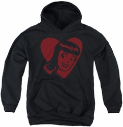 Archie Comics youth teen hoodie Veronica Hearts black