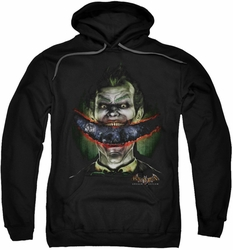 Arkham Asylum pull-over hoodie Crazy Lips adult black