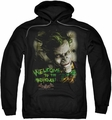 Arkham Asylum pull-over hoodie Welcome To The Madhouse adult black
