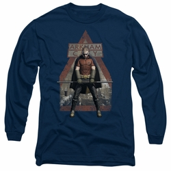 Arkham City adult long-sleeved shirt Arkham Robin navy