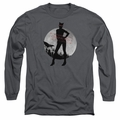 Arkham City adult long-sleeved shirt Catwoman Convicted charcoal