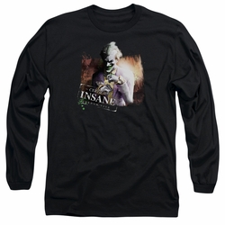 Arkham City adult long-sleeved shirt Certified Insane black