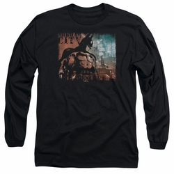 Arkham City adult long-sleeved shirt City Knockout black
