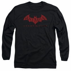 Arkham City adult long-sleeved shirt Red Bat black