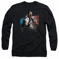 Arkham City adult long-sleeved shirt Two Face black